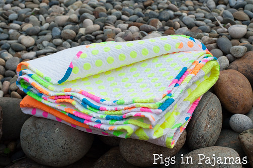 Neon quilt fold over