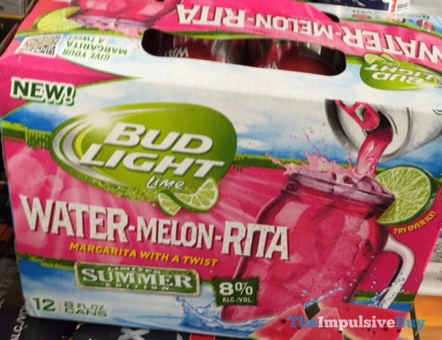 Bud Light Lime Limited Summer Edition Water-Melon-Rita