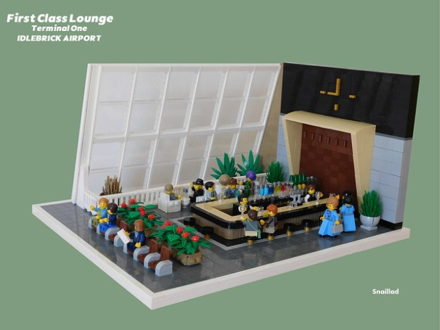 First class lounge - Terminal One - Idlebrick Airport