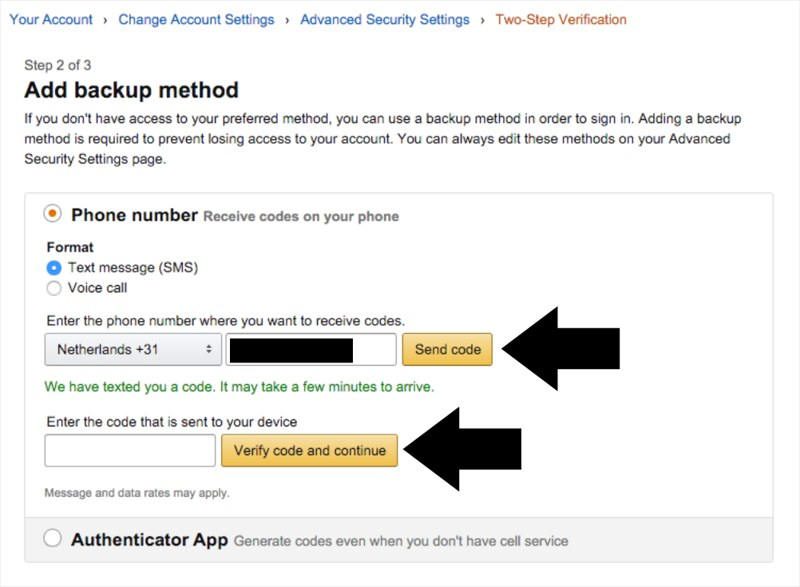 How to enable Two-Step Verification on your Amazon's account | Lia Belle