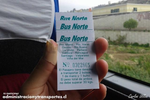 Ticket Equipaje Bus Norte - GDVG30