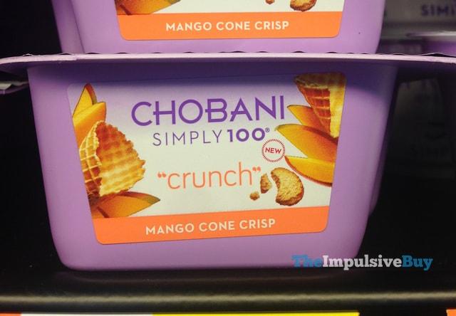 Chobani Simply 100 Crunch Mango Cone Crisp