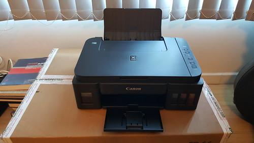 Canon Pixma G3000 แบบกางทุกอย่างแล้ว