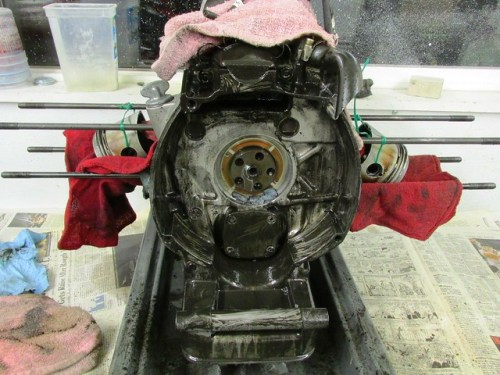 Cleaning Grungy Flywheel Housing
