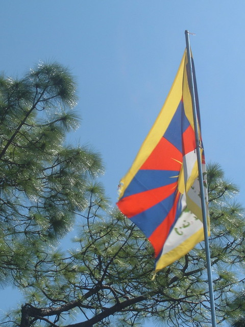 Tibetan flag flying in Dharamsala