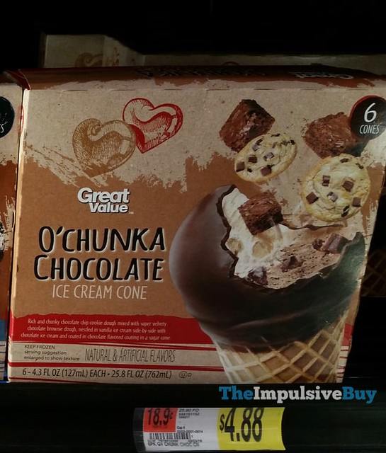 Great Value O'Chunka Chocolate Ice Cream Cone