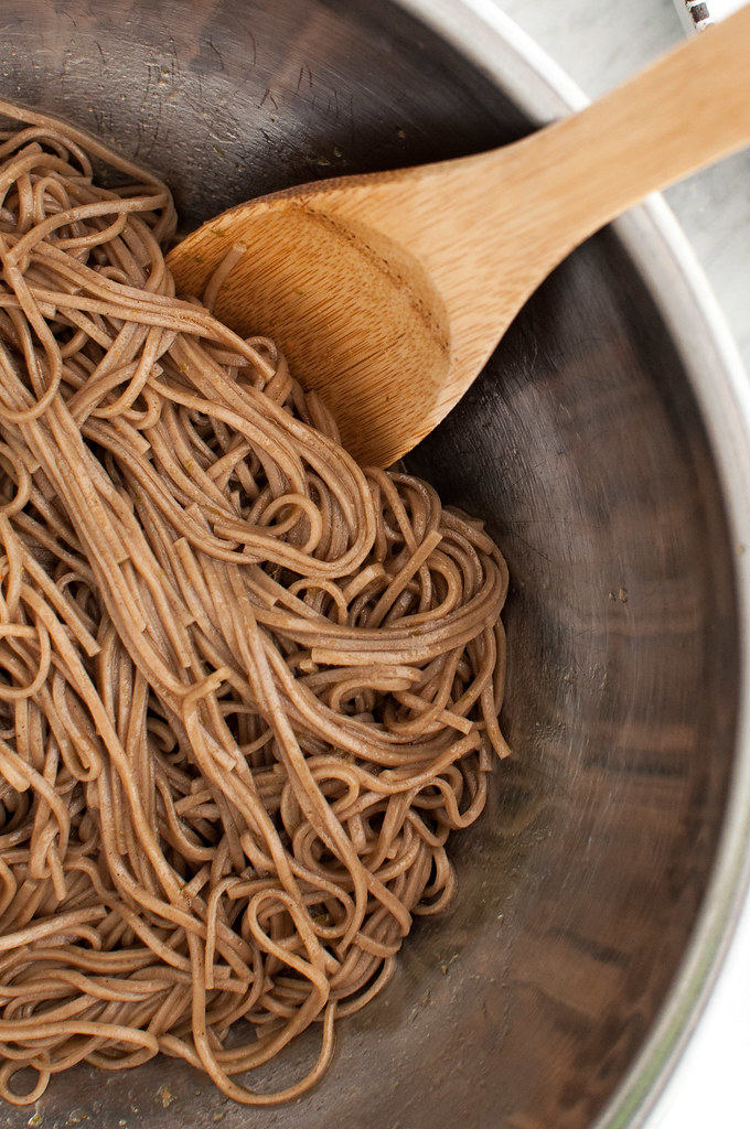 Soba noodles for make ahead green lunch bowls