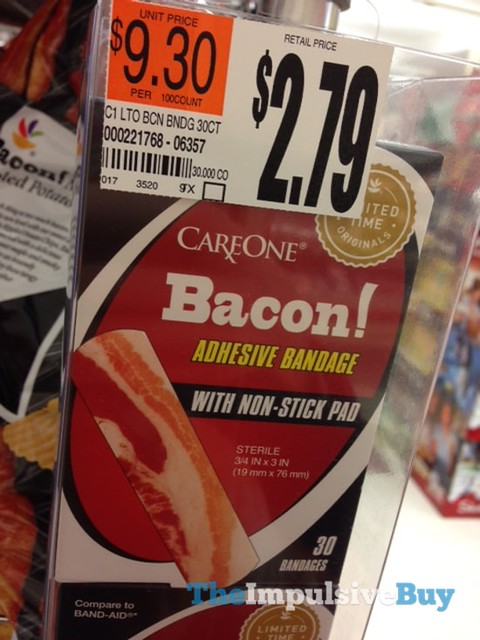 Giant Limited Time Originals CareOne Bacon Adhesive Bandage