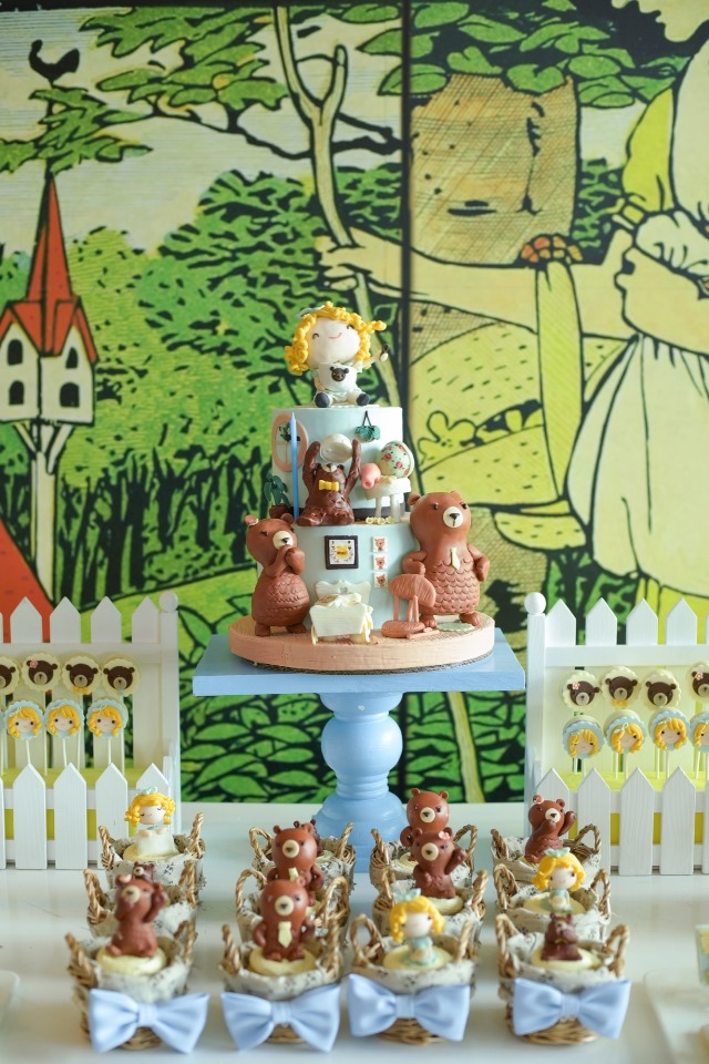 Justines Goldilocks And The Three Bears Themed Party 1st Birthday