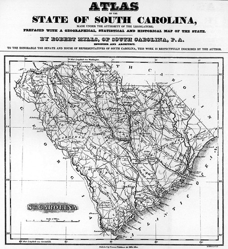 Robert Mills Map of South Carolina