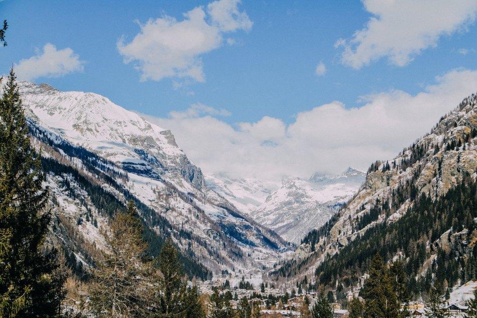 Veduta della Valle di Gressoney