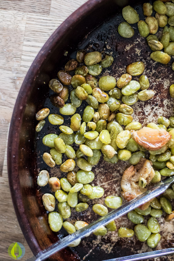 Oven Roasted Lima Beans and Garlic | infinebalance.com #recipe #vegan