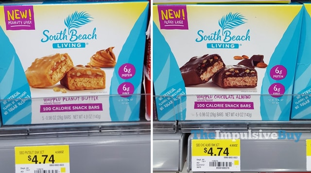 South Beach Living Whipped Peanut Butter and Whipped Chocolate Almond Snack Bars