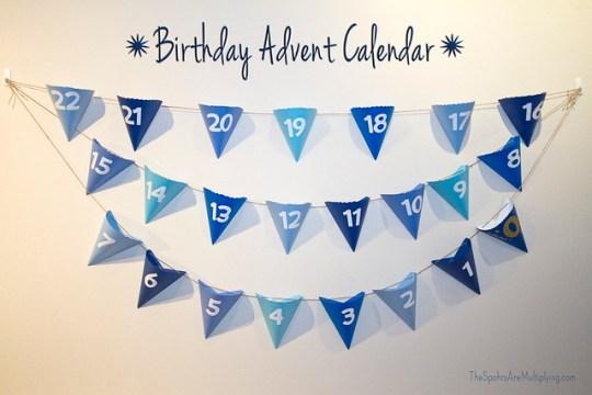 birthday advent calendar