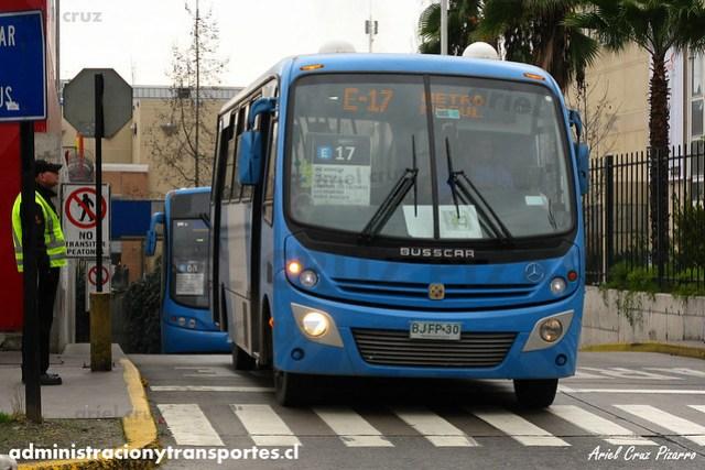 Transantiago - Unitran - Busscar Micruss / Mercedes Benz (BJFP30)