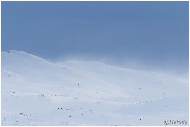 stuifsneeuw op de bergtoppen (HP002753)