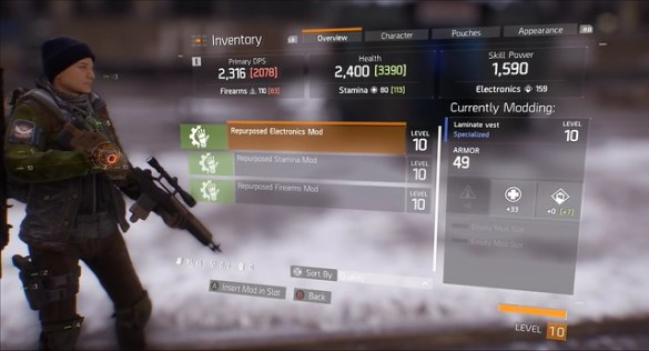 The Division - Gear Mods