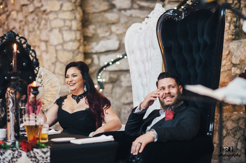 Goth wedding in a cave as seen on @offbeatbride