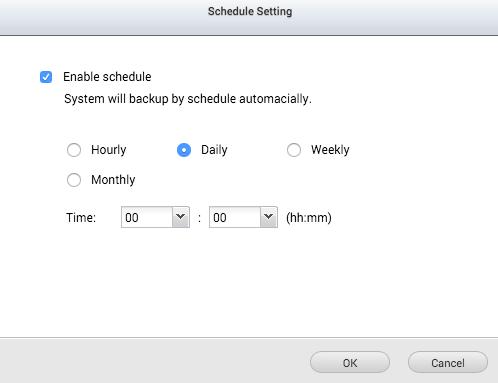 แล้วก็ตั้ง Schedule ว่าจะแบ็กอัพถี่ห่างแค่ไหนซะ ก็เรียบร้อยครับ