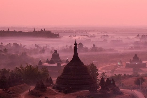 Discovery Viewpoint sunset. Mrauk U