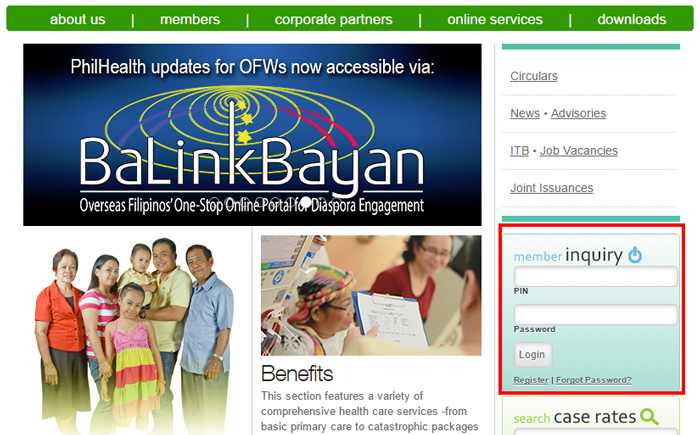 Check PhilHealth Contribution online - Login