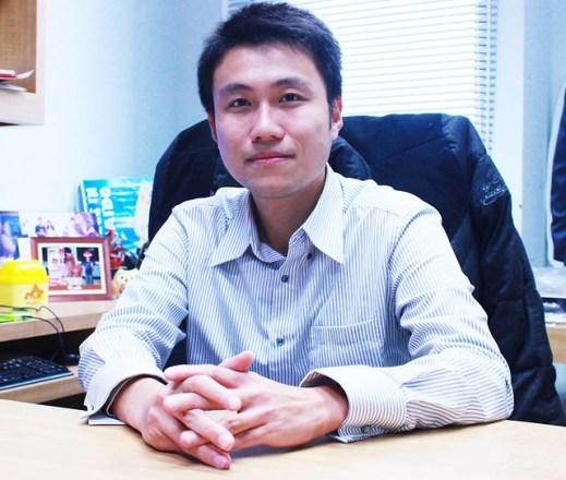雖年輕,言談之間卻透露著堅毅和專業的林智勇教授