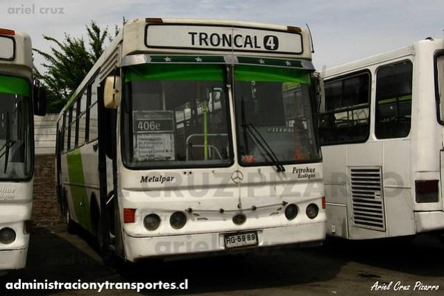 Transantiago (406e) - Terminal La Estrella - Metalpar Petrohué 2000 / Mercedes Benz (RG5989)
