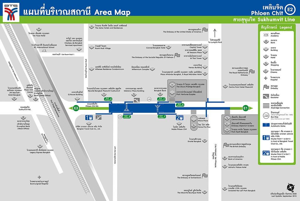 MAP of BTS Phloen Chit