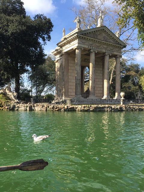 this is one of the 5 things your kids will love about Rome: Villa borghese gardens and ponf