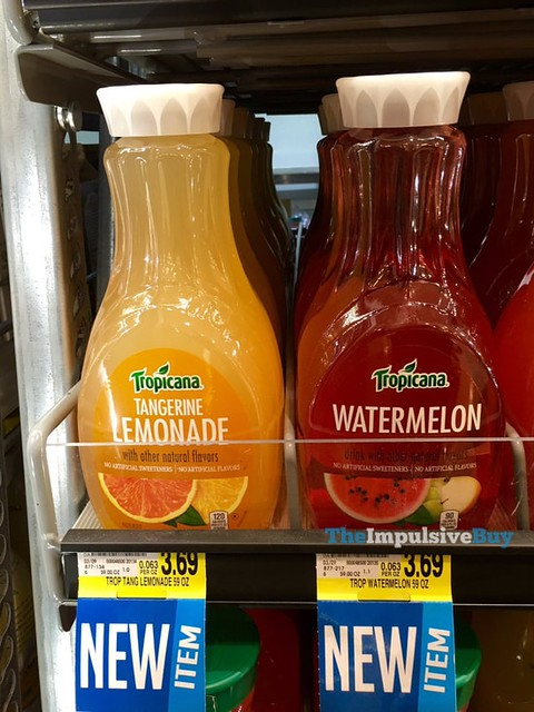 Tropicana Tangerine Lemonade and Watermelon