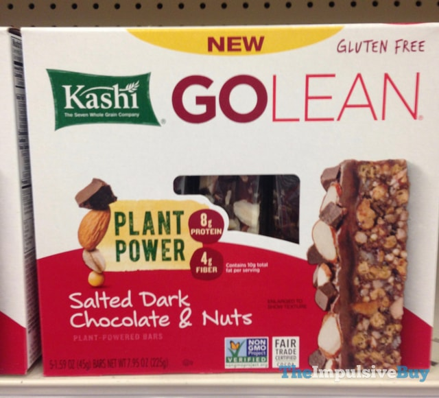 Kashi Go Lean Salted Dark Chocolate & Nuts Plant-Powered Bars
