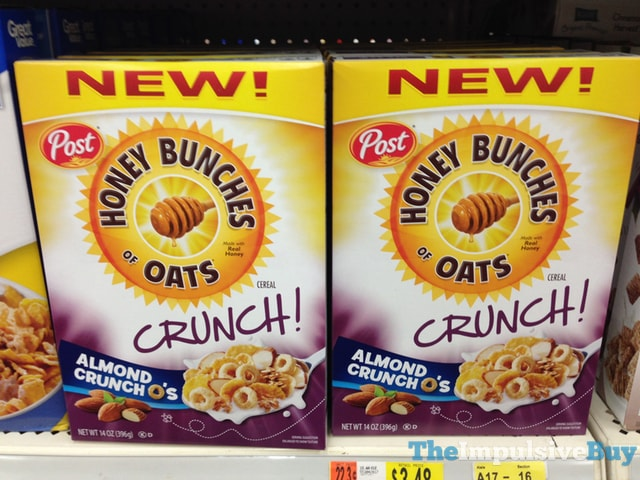 Post Honey Bunches of Oats Crunch Almond Crunch O's