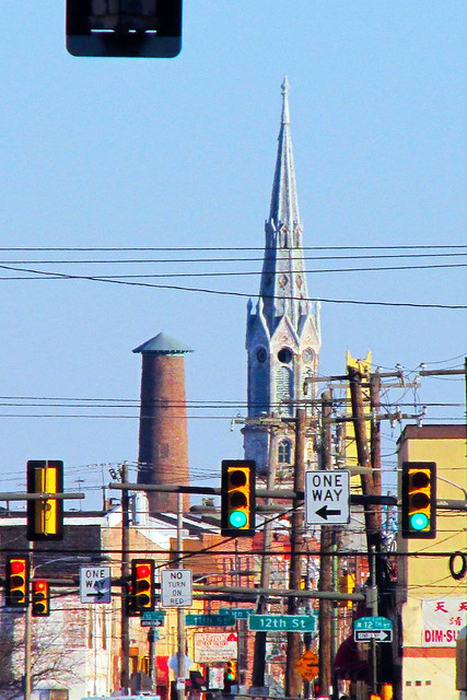 Shot Tower & The Emanuel Evangelical Lutheran Church