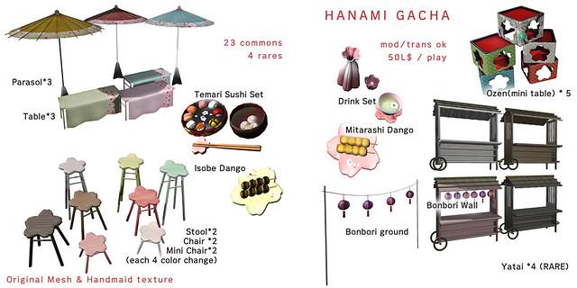 *NAMINOKE*HANAMI GACHA