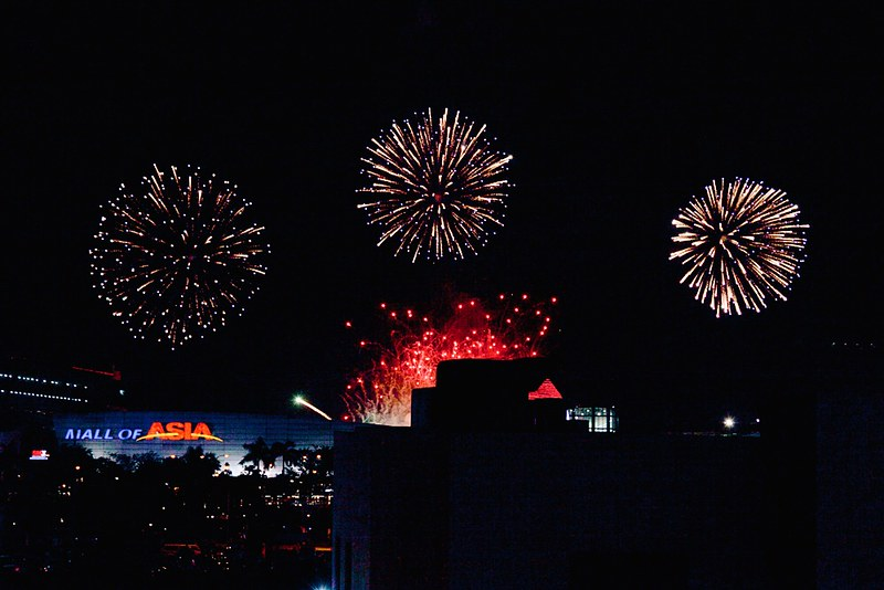 Fireworks Display of Team Netherlands at the 7th Philippine International Pyromusical Competition