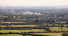 Smoke on the Somerset Levels