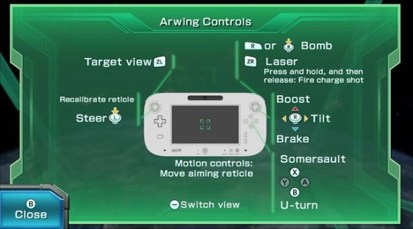 Star Fox Zero Controls
