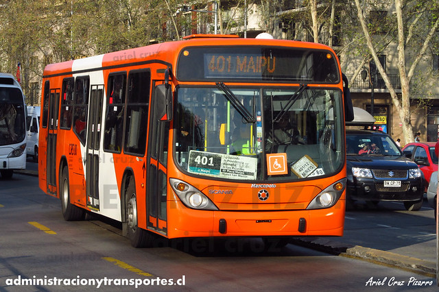 Transantiago (401) - Express - Marcopolo Gran Viale / Scania (CJRS80)