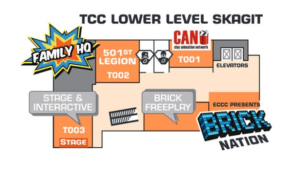 ECCC Brick Nation location map