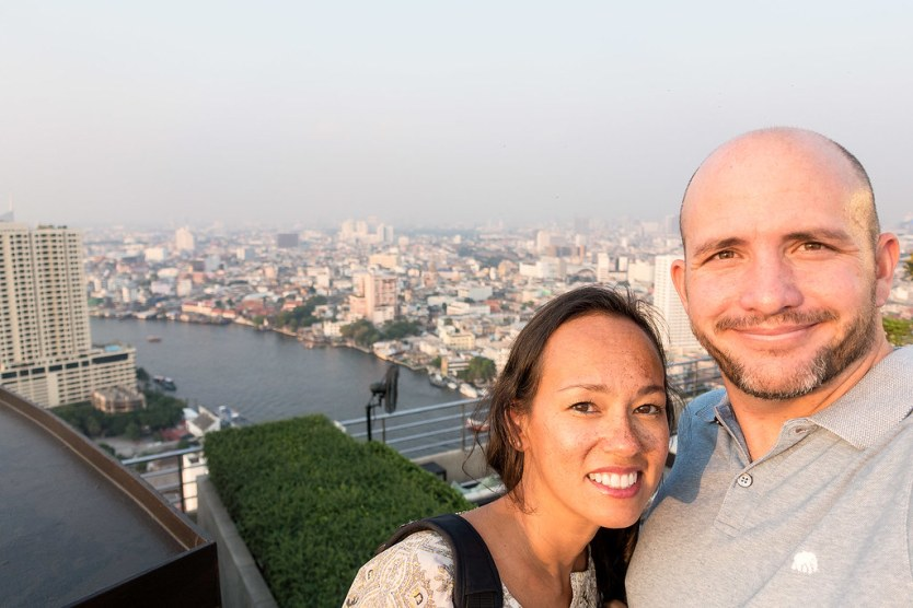 One of the fabulous rooftops bars in Bangkok, Thailand.