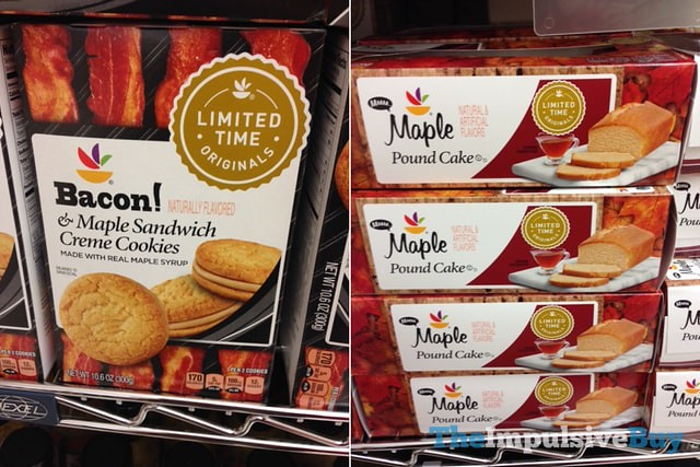 Giant Limited Time Originals Bacon & Maple Sandwich Creme Cookies and Maple Pound Cake