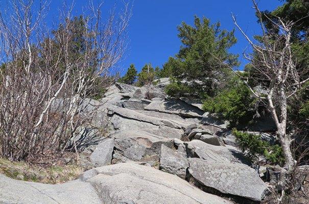 White Dot Trail rock Scramble 3
