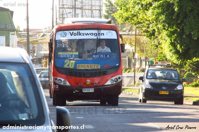 Micro 20 Valdivia - Niebla / Busscar Micruss - Volkswagen (XH4973)