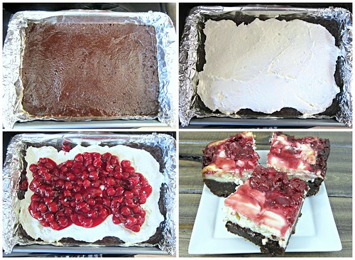 Cherry Cheesecake Brownie Steps