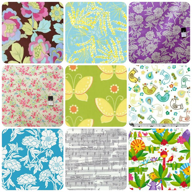 Discounted Fabrics in my Etsy shop