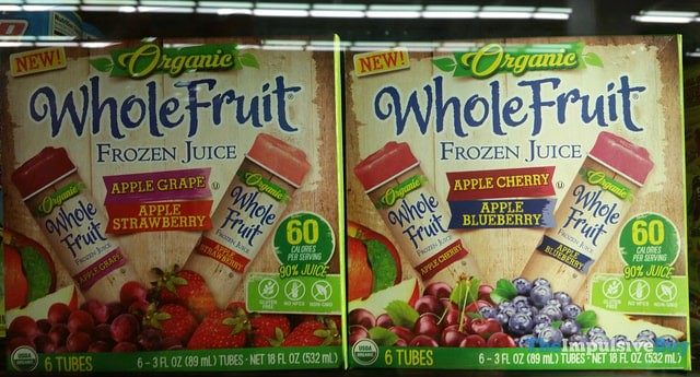 Organic Whole Fruit Frozen Juice (Apple Grape-Apple Strawberry and Apple Cherry-Apple Blueberry)