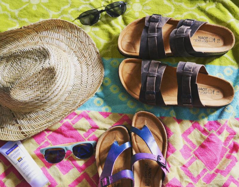 naot footwear, sandals, summer hat