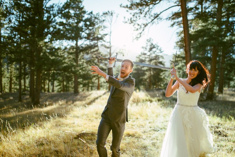 Epic sword battle as seen on @offbeatbride #weddings #swords