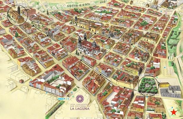 Mapa para visitar La Laguna