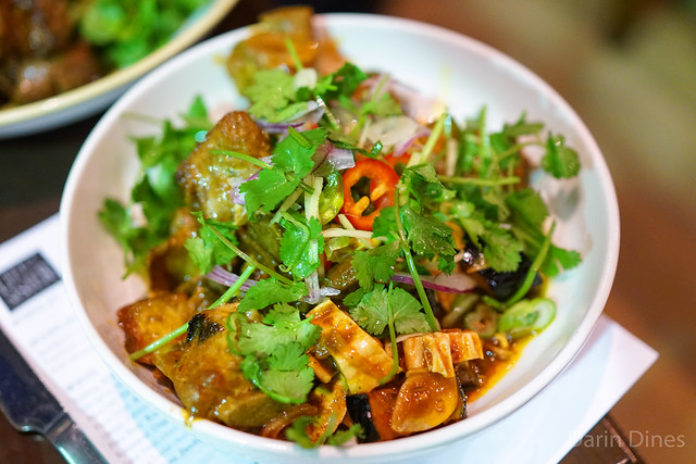 fried pork spare ribs, tamarind, eggplant